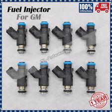 NEW 12613411 Set (8) Fuel Injectors for GM 2010-2013 Chevrolet GMC 4.8L