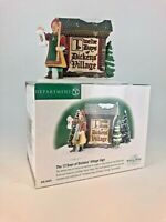 """Dept 56, Dickens' Vil,  """"The 12 Days of Christmas Village Sign"""", #58467"""