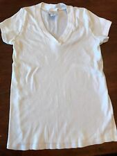 Oh Baby by Motherhood Maternity White Short Sleeve Tee Small Top EUC