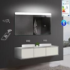 LED Bad Badezimmerspiegel Wandspiegel in Warm/Kaltweiß mit Bluetooth SMY141X80