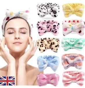 Big Bow Soft Fleece Spa Hair Band Wrap Headband For Make Up Bath Facial Yoga