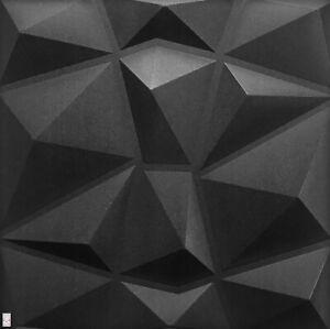 5qm/20Stück 3D Wandpaneele Deckenpaneele Platten Paneele Diamant Schwarz XPS