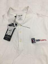 Adidas Climalite Golf Shirt, Medium, W/ PGA Tour Academy Embroidered On Front