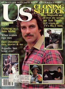 1982 US November 23 - Tom Selleck; Bette Midler; Faye Dunnaway; Melissa Gilbert