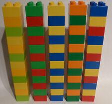 LEGO DUPLO 60 STEINE BAUSTEINE 4 NOPPEN  4er VIERER BUNT !!