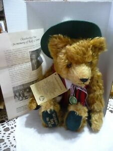 Hermann Mohair Oktoberfest Bear 75th Birthday Limited Edition Musical