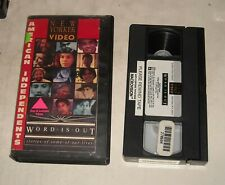 VHS TAPE in CLAM SHELL CASE - AMERICAN INDEPENDENTS WORD is OUT GAY - LESBIAN