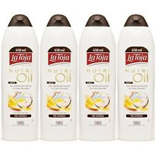 4 x 650 ml - LA TOJA - NUTRIOIL COCONUT  -  SHOWER BODY GEL - new