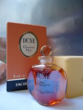 CHRISTIAN DIOR DUNE EDT 5ml VINTAGE '91 MINIATURE RARE ULTRA SHINY BOTTLE IN BOX