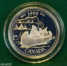 1999 CANADA Millennium Sterling Silver Quarter for May in proof finish