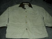 VINTAGE STRUCTURE WORK CLOTHES FLANNEL LINED CORDUROY JACKET SIZE XL LEATHER