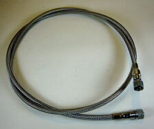 """62"""" Swagelok T Series 1/4"""" PTFE High Pressure Flexible Hose with Stainless Braid"""