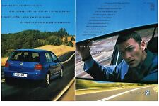 PUBLICITE 1998    VOLKSWAGEN    GENERATION GOLF ( 2 pages)