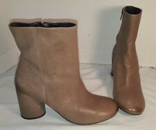 ANTHROPOLOGIE FREE PEOPLE WOMEN'S LOTUS GREY LEATHER BOOTS US 9 EUR 39