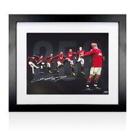 Framed Wayne Rooney Signed Manchester United Photo - 253 Top Goalscorer, Limited