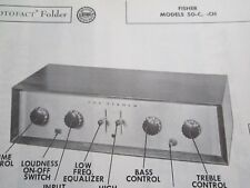 Fisher 50-C & 50-Ch Pre-Amp Pre-Amplifier Photofact
