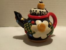 Mary Engelbreit Flowers & Hearts Teapot Ornament-