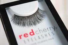 Red Cherry RYDER #117 falsche künstliche Echthaar-Wimpern schwarz strip lash