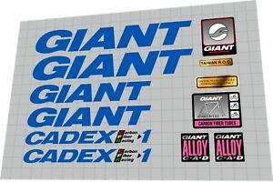 1992 Giant Cadex CFR 1 DECAL SET
