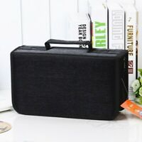 128 Disc Portable CD DVD Wallet Holder Bag Case Album Organizer Media Storage