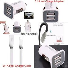 Samsung Galaxy S8 S8 Plus Note 7 Fast Car Charger + Type-C 3D Zinc Usb Cable