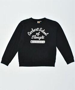 CARHARTT Mens Sweatshirt Jumper Medium Black Cotton BE15