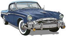 Studebaker 1955  President coupe canvas art print