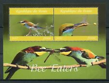 Benin 2017 MNH Bee-Eaters Bee Eaters 2v M/S Birds Stamps