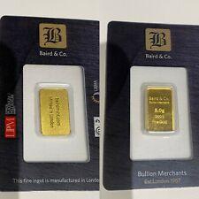 5 x  gram , 24 ct bullion bar  # 192510