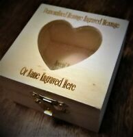 Personalised Keepsake Box Laser Engraved With Heart Shaped In Lid