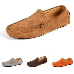 Mens Driving Moccasins Soft Comfy Breathable Flats Pumps Slip on Loafers Shoes L