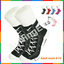 Free Black Silly Sock Sneaker Socks Cotton Shoe Print gift Christmas Birthday