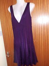 Mama-licious Dark Purple Suri Jersey Short maternity dress tunic top size 12 VGC