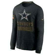 DALLAS COWBOYS NFL NIKE SALUTE TO SERVICE ON FIELD DRY FIT COTTON LONG SLEEVE