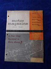 MOTOR MAGAZINE TORONTO CANADA AUGUST 1954 CAR TRUCK AUTO PARTS ADVERTISING