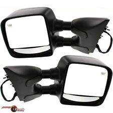New Mirrors Power Heated Towing Left & Right Pair Set for 04-13 Nissan Titan