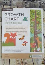 Petit Collage Forest Friends Folding Kids Growth Chart Bunny Fox Deer Owl Racoon