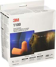 3m 1100 Foam Earplugs Noise Reduction Orange