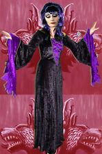 257✪ Gothic Samt Morticia Kostüm Kleid Fledermausärmel  Adams Family Batcave