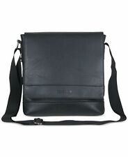 Kenneth Cole Reaction Men Bag Black Pebbled Tablet Faux Leather Bookbag $140 457