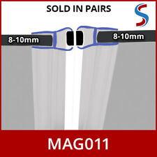 2M Pair Straight Flat Sliding Shower Door Enclosure Magnetic Seals 8 9 or 10mm