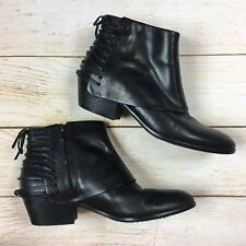 5be6af6eb Sam Edelman Princeton  170 Black Leather Laced Ankle Boots Booties 7M
