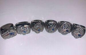2001-2018 New England Patriots Championship Replica Brady Super Bowl Ring Set