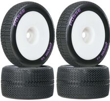 New Duratrax White 1/8 Posse Truggy Tire Premounted w/1/2 Offset (2) DTXC3667