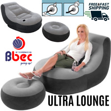 Inflatable Ultra Lounge with Ottoman Gaming Chair Adult Bean Bag Indoor Outdoor