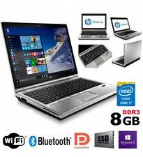 "PC PORTATILE NETBOOK HP ELITEBOOK 2570P CORE I7 12.5"" RAM 8GB SSD WINDOWS 10 PRO"