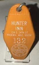 Vintage Hunter Inn Motel Room Key And Fob Phoenix, Arizona Rm#132