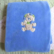 PB Piccolo Bambino Polyester Plush Blue Lion w Green Mane Baby Boy Blanket EUC
