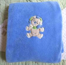 PB Piccolo Bambino Polyester Plush Blue Lion w Green Mane Baby Boy Blanket EUC