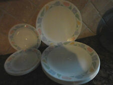 12 PIECES CORELLE FRIENDSHIP DINNERWARE DINNER SALAD PLATE